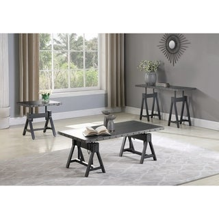 "Carbon Loft Narula Gunmetal Adjustable End Table - 22"" x 22"" x 23"""