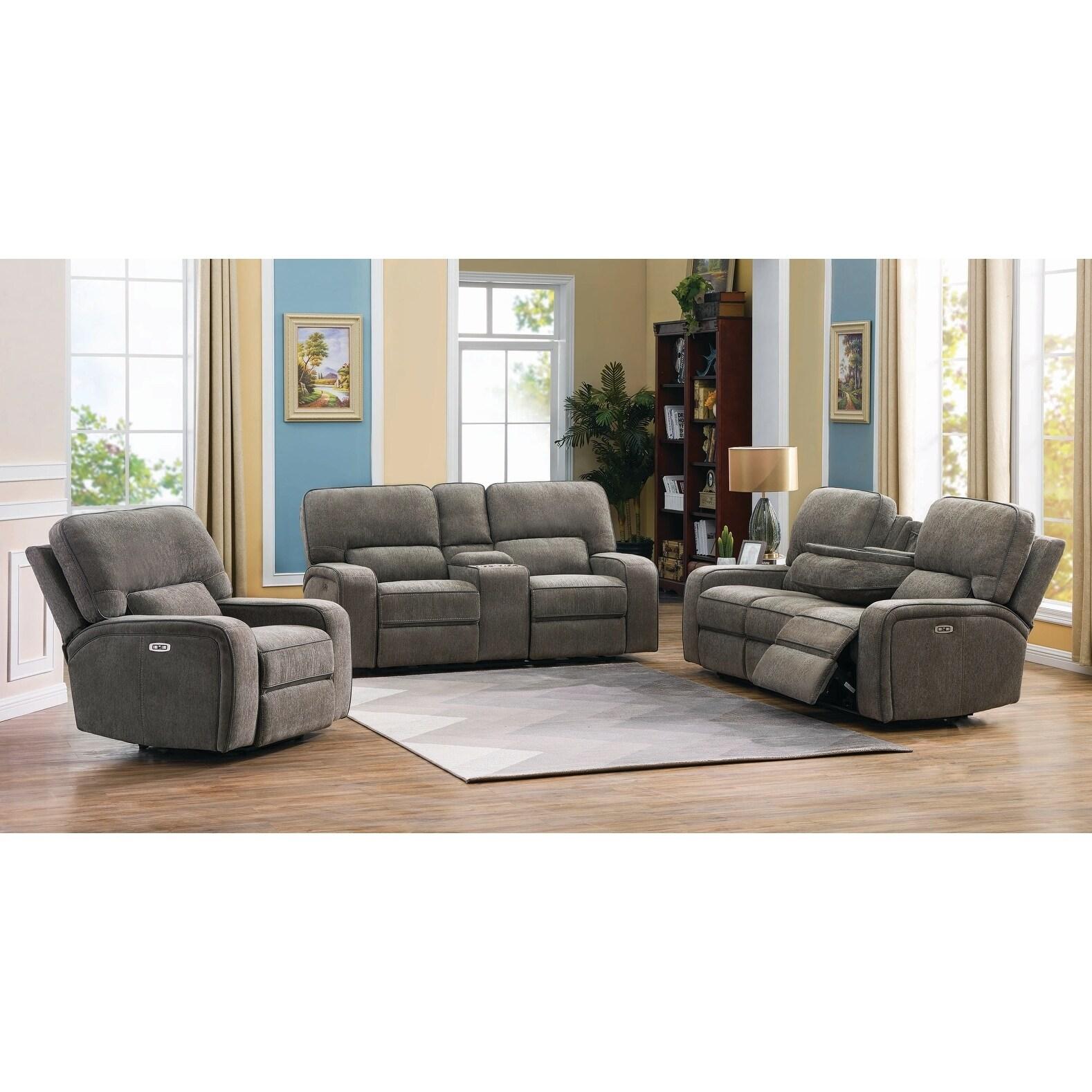 Groveland 3 Piece Power Living Room Set Overstock 28109044