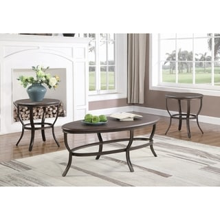 Copper Grove Perpignan Brown and Black 3-piece Occasional Table Set