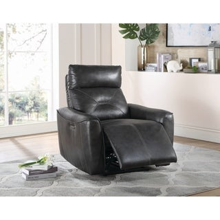 Copper Grove Argenteuil Charcoal Upholstered Power Recliner
