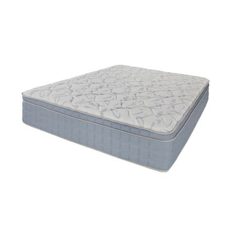 Zahara Blue and Off-white 12-inch Mattress