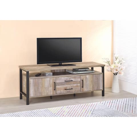 Carbon Loft Corvalan Weathered Oak 59-inch TV Console