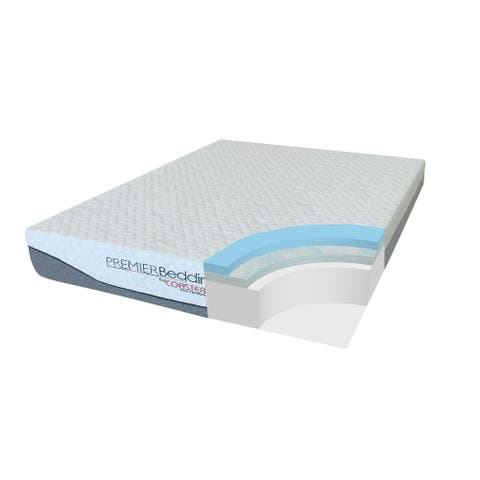 Madigan Grey and White 10-inch Memory Foam Mattress