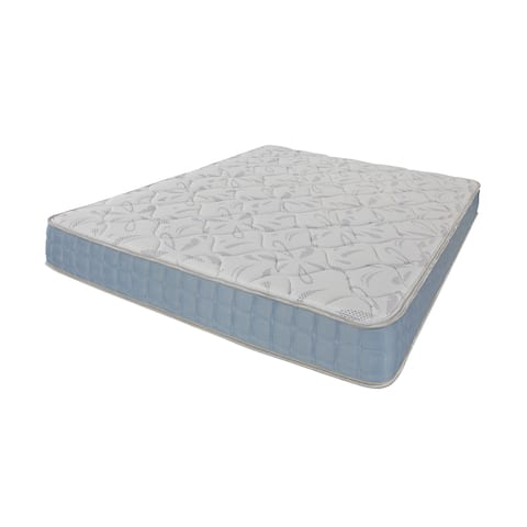 Lexie Blue and Off-white 8-inch Mattress