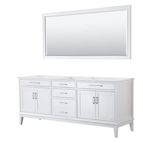 Wyndham Collection Margate Wood 80-inch Double Vanity Cabine