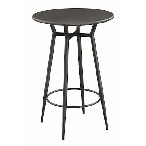 "Carbon Loft Rosenbaum Bronze Round Bar Table - 27.50"" x 42.50"" x 27.50"""