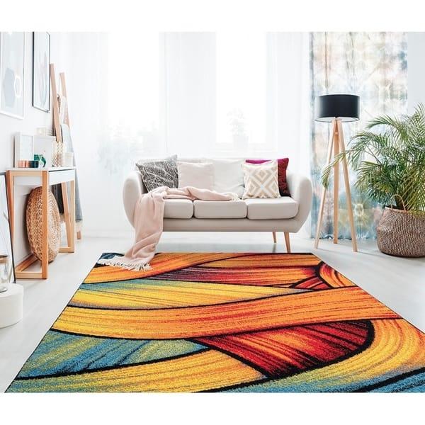 Shop Porch Den Murrelet Multi Colored Modern Area Rug Overstock 28110274