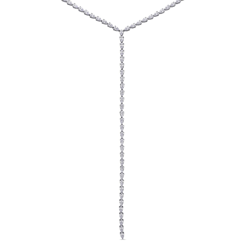 """Rose Gold-Tone Sterling Silver White CZ Initial /""""Y/"""" Necklace Pendant"""