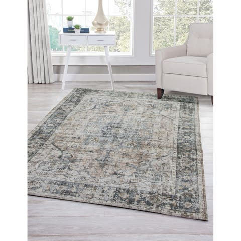 Gretna Charcoal/Brown/Multi Area Rug by Greyson Living