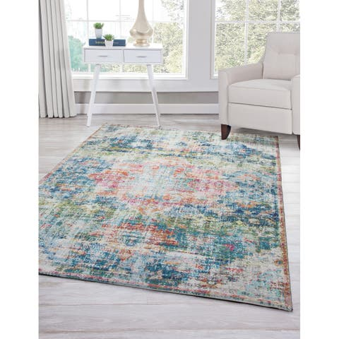 Bellevue Blue/Ivory/Multi Area Rug by Greyson Living