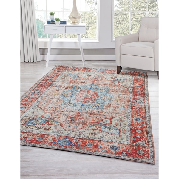 Fremont Red/Multi Area Rug by Greyson Living