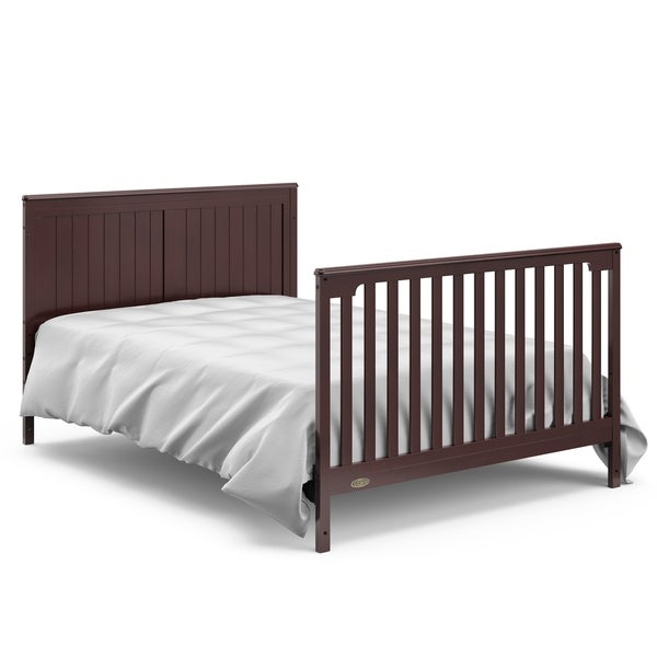 Mattress Not Included White Easily Converts to Toddler Bed Day Bed or Full Bed Graco Hadley 4-in-1 Convertible Crib with Drawer Some Assembly Required Three Position Adjustable Height Mattress