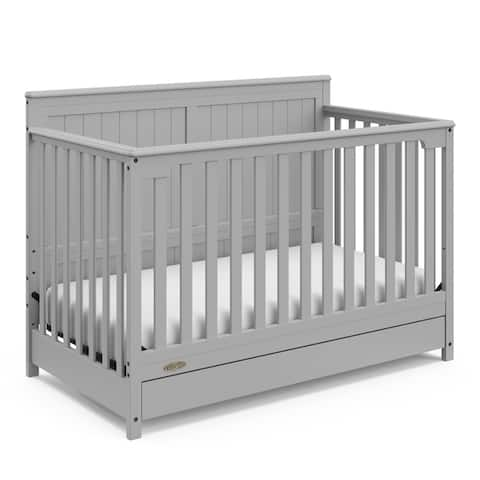 Graco Hadley 4-in-1 Convertible Crib with Drawer, White,Easily Converts to Toddler Bed, Day Bed or Full Bed