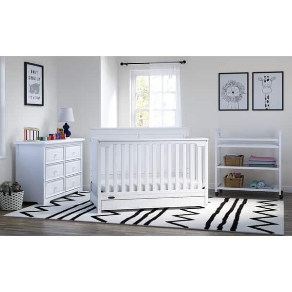 Shop Graco Hadley 4-in-1 Convertible Crib with Drawer, White ...