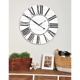 Link to Oversized White Farmhouse Wall Clock Similar Items in Decorative Accessories