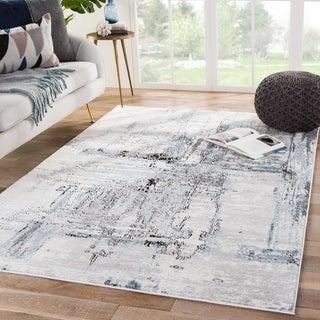 Porch & Den Kirra White/Grey Abstract Area Rug
