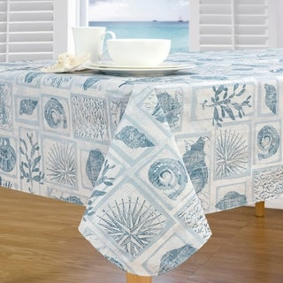 Coral Core Stain Resistant Vinyl Tablecloth