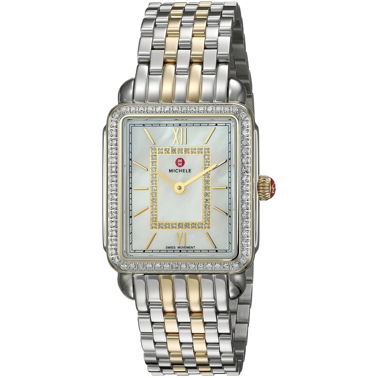 da30f83e39b Shop Michele Deco II Diamond Two-Tone Ladies Watch MWW06I000004 - Free  Shipping Today - Overstock - 28110480