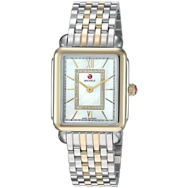 c1e394db7 Shop Michele Deco II Diamond Two-Tone Ladies Watch MWW06I000024 - Free  Shipping Today - Overstock - 28110482
