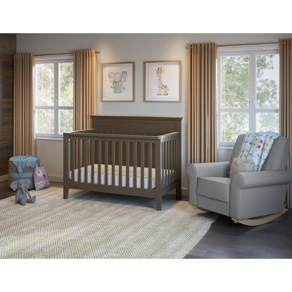 5 Cool Cribs That Convert To Full Beds: Shop Graco Georgia 4-in-1 Convertible Crib, White, Easily
