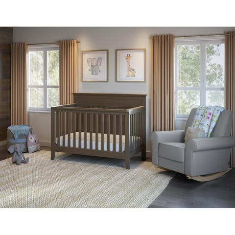 Graco Georgia 4-in-1 Convertible Crib, White, Easily Converts to Toddler Bed, Day Bed, or Full Bed