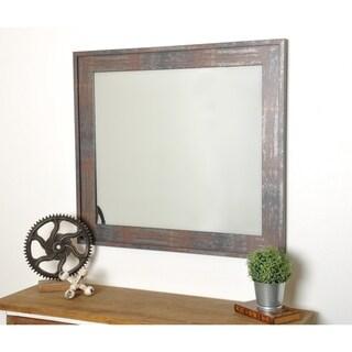 Modern Industrial Rust Accent Mirror
