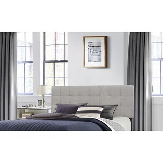 Delaney Stone-colored Padded Fabric Headboard