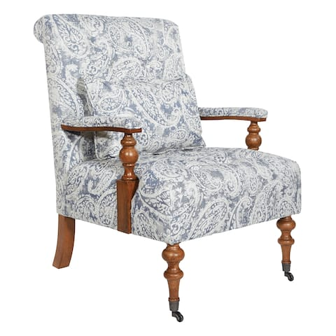 OSP Home Furnishings INSPIRED by Bassett Freemont Chair with Casters