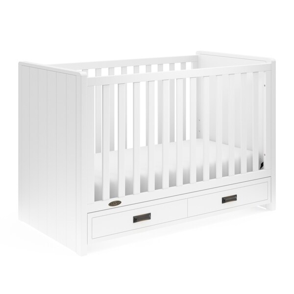 Shop Graco Cottage 3-in-1 Convertible Crib, White, Easily ...