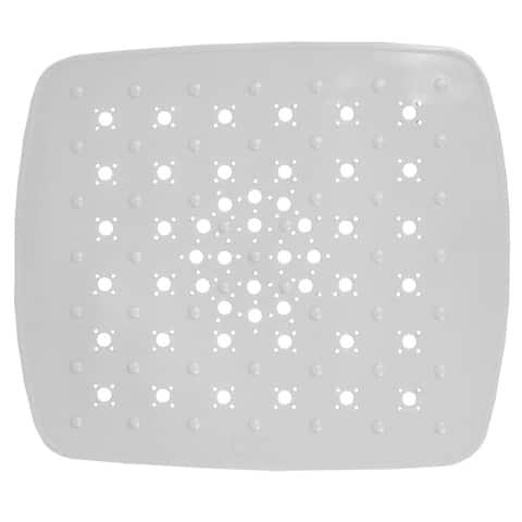 Small PVC Sink Mat, White