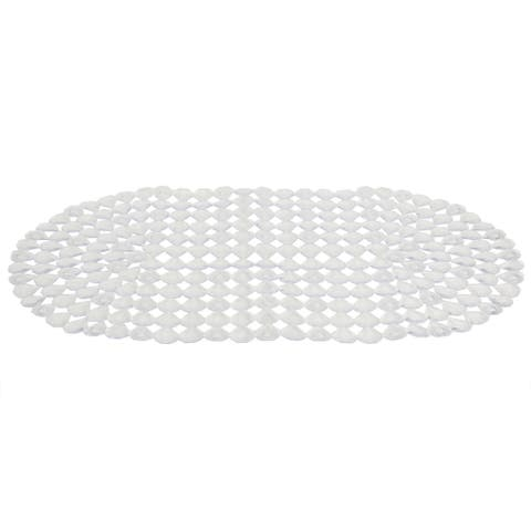 Diamond Plastic Bath Mat, Clear