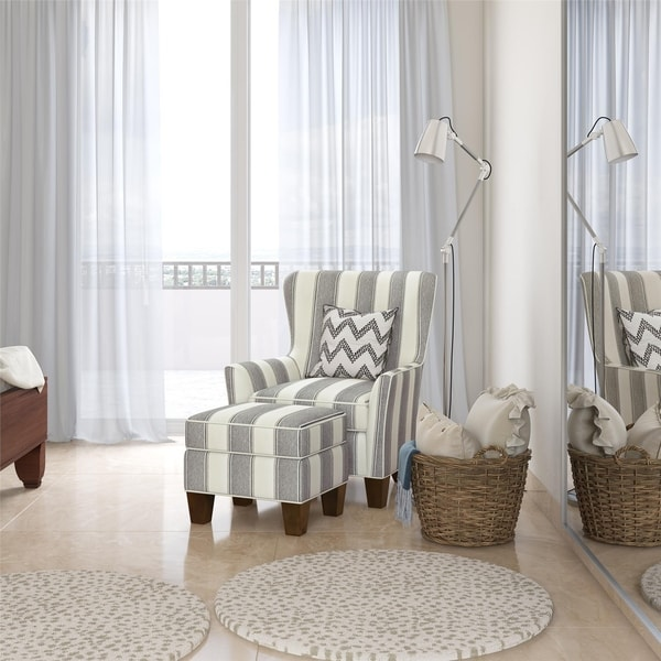 Avenue Greene Daisy Accent Chair & Ottoman Set
