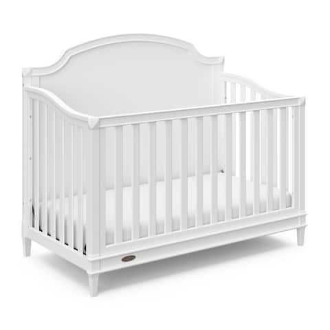 Graco Alicia 4-in-1 Convertible Crib, White, Easily Converts to Toddler Bed, Day Bed, or Full Bed
