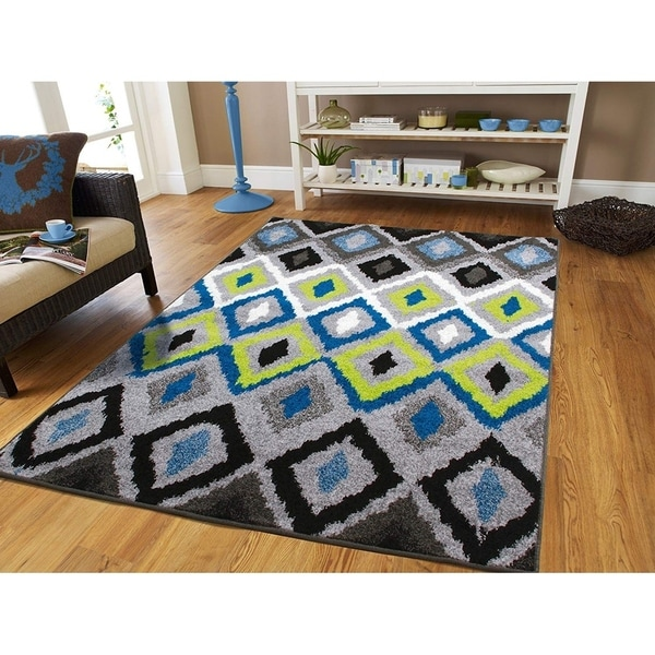 Porch & Den Guston Modern Diamond Area Rug