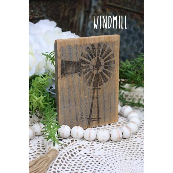 Farmhouse Print Windmill