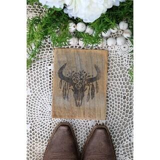 Farmhouse Print Cow Skull