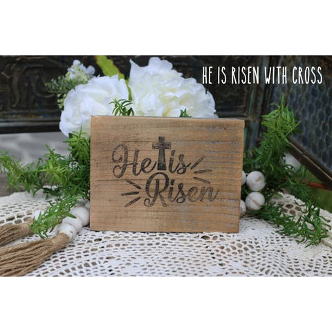 He is Risen with Cross Easter Print