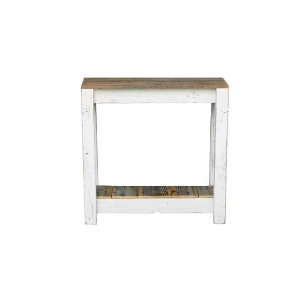 Terrific Shop White Rustic Combo Console Table Free Shipping Today Beatyapartments Chair Design Images Beatyapartmentscom