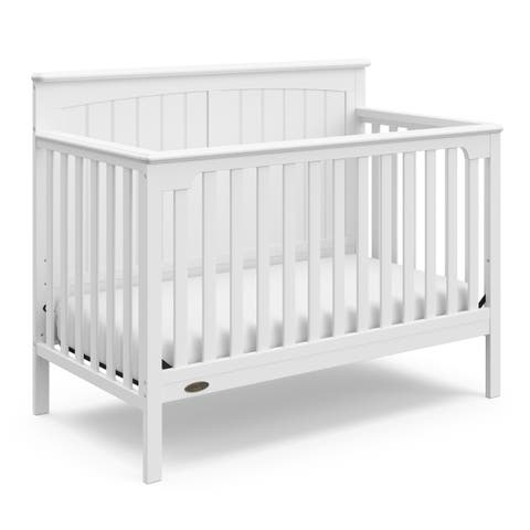 Graco Ellis 4-in-1 Convertible Crib, White, Easily Converts to Toddler Bed, Day Bed, or Full Bed