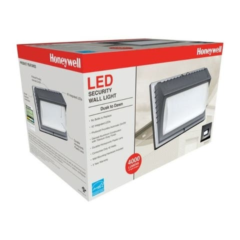 Honeywell Honeywell Dusk to Dawn Plug-In Gray Security Wall Light