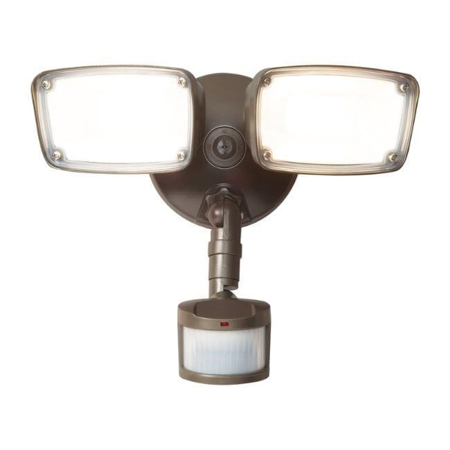 Halo  Motion-Sensing  Hardwired  LED  Bronze  Security Light