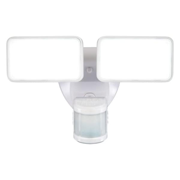 Heath Zenith Motion-Sensing Hardwired LED White Security Wall Light. Opens flyout.