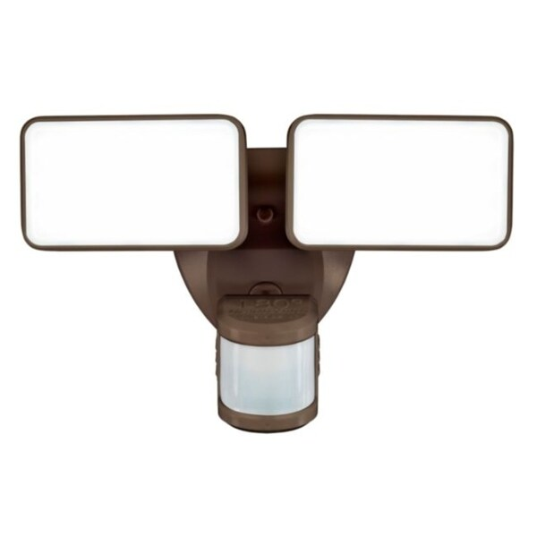 Heath Zenith Motion-Sensing Hardwired LED Bronze Security Wall Light. Opens flyout.
