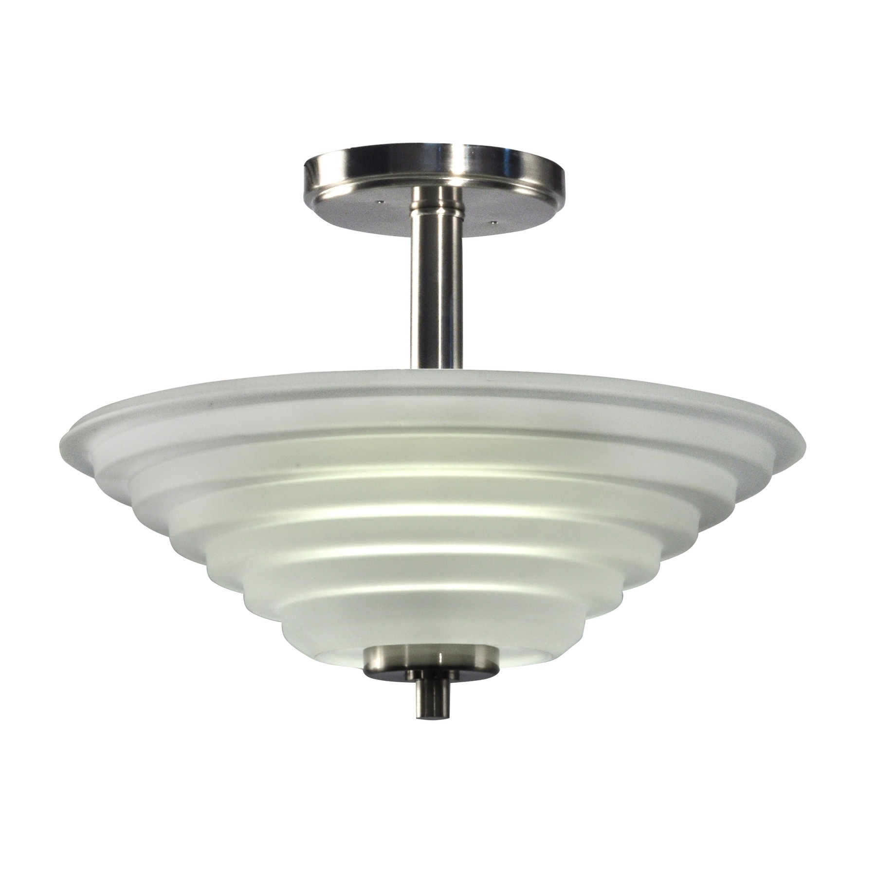 Springdale 13.5W Wigan Crystal Semi Flush Mount