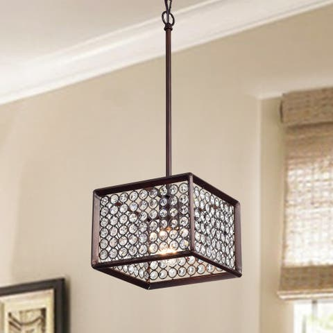 Araji Brussed Red Bronze 1-light Pendant