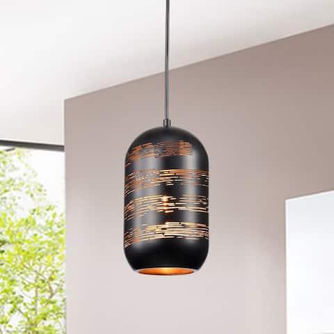 Akeno Matte Black/Gold 1-light Pendant