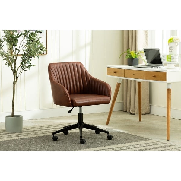 Carbon Loft Dumas PU Leather Swivel Office Chair