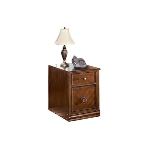 Transitional Style Wooden File Cabinet with Two Spacious Drawers, Brown