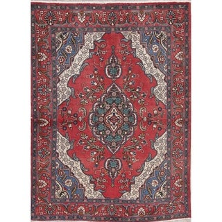 """One-Of-A-Kind Bakhtiari Persian Oriental Hand-Knotted Area Rug - 6'5"""" x 4'8"""""""
