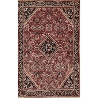 """Vintage Sarouk Traditional Persian Hand Knotted Oriental Wool Area Rug - 6'3"""" x 4'1"""""""